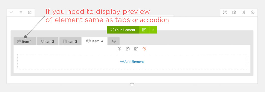 Display your Element as Tabs or Accordion