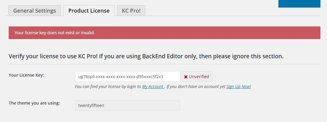 Kingcomposer license invalid