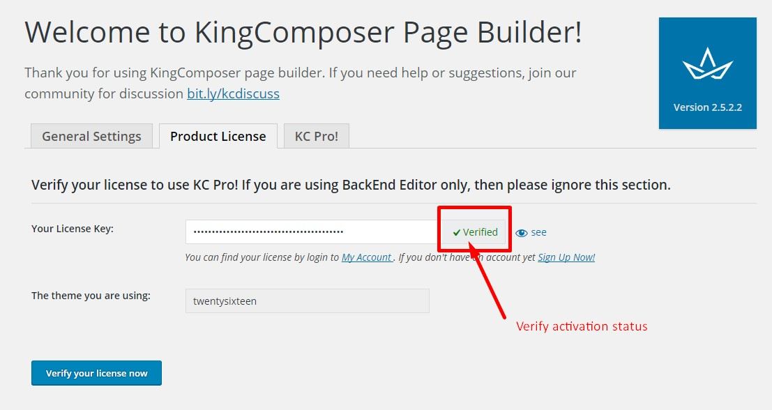 Kingcomposer license key valid