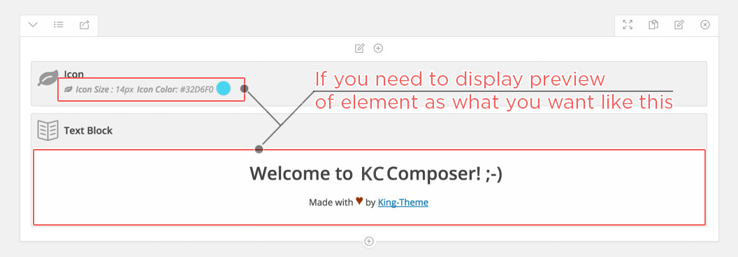 What is admin_view in KingComposer?
