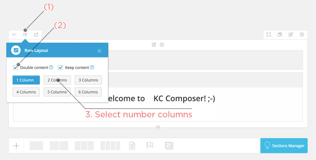 Double a column in KingComposer
