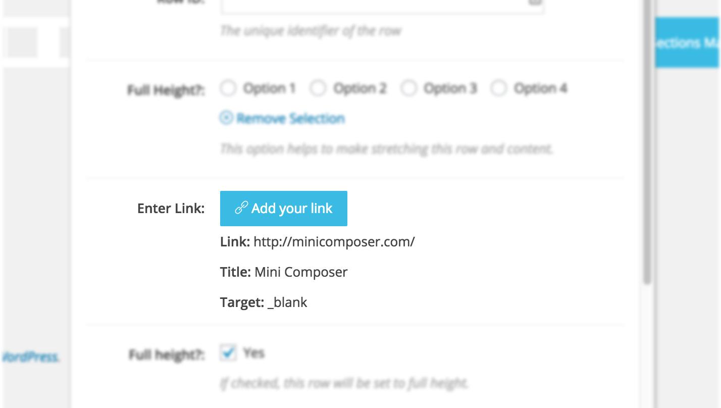 KingComposer field link